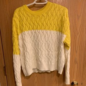 Forever 21 yellow and white sweater